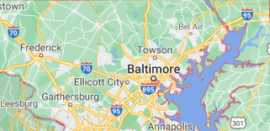 Some Major Areas of maryland Where we offer our car shipping service