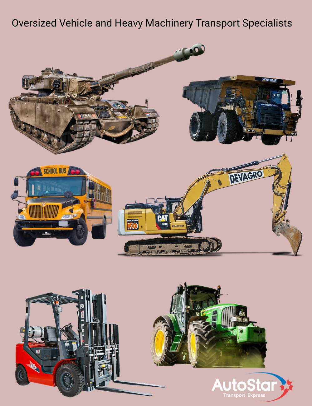 Oversized Vehicle and heavy machinery shipping experts