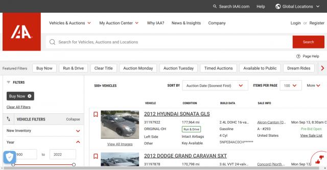 IAAI an Online Car Auction Site